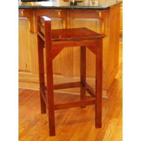 24 Seat Height Counter Stools by 24 Quot Seat Height Solid Mahogany Wood Low Back Barstool