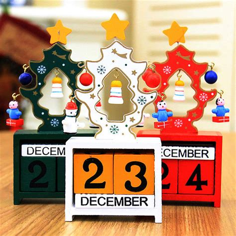 christmas gufts for desk mates creative gift mini wooden calendar home ornament table desk decor alex nld