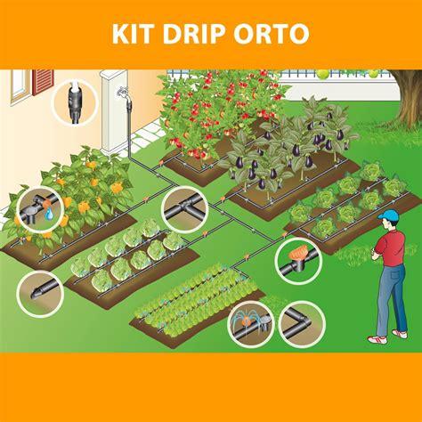 kit irrigazione giardino kit impianto irrigazione a goccia orto claber 90767