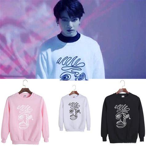 bts official merch kpop bts jungkook sweater bangtan boys unisex hoodie
