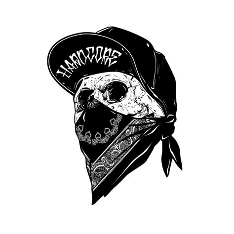 skull with cabp vector premium download