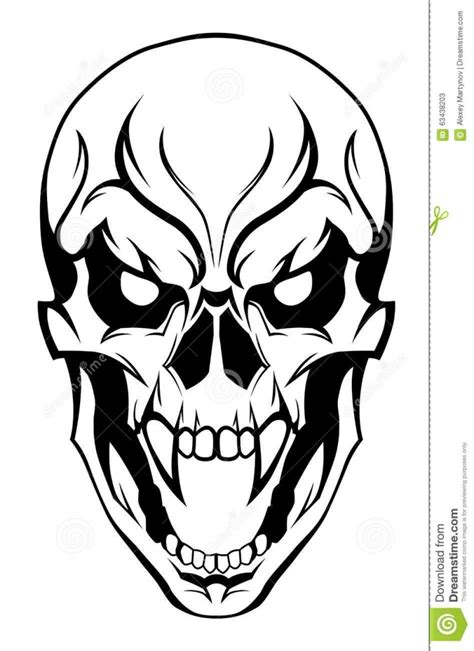 evil flaming skull drawings www pixshark com images