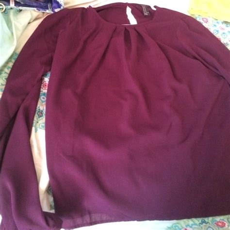 plum colored blouses 44 forever 21 tops purple plum colored blouse