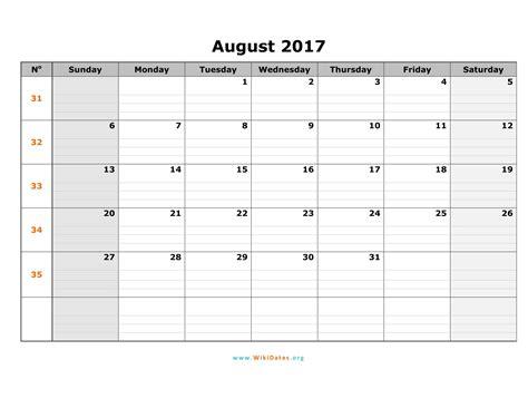 printable calendar 2017 word august 2017 calendar word calendar printable free