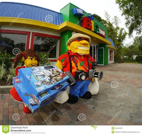 bid shopping the big shop at legoland florida editorial photo image
