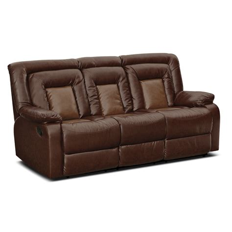 Leather Sofa With Recliner Furnishings For Every Room And Store Furniture Sales Value City Furniture