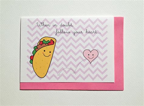 valentines day cards for friends s day card taco friend by myfrenchsailor on etsy