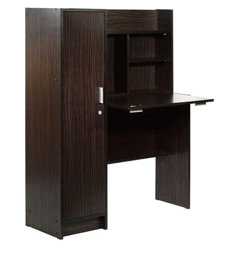 buy nakamura study table  cabinet  dark brown finish  mintwud  modern study