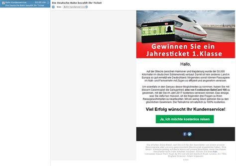 deutsche bank spam deutsche bahn spam gewinnspiel deutsche bank bezahlt ihr