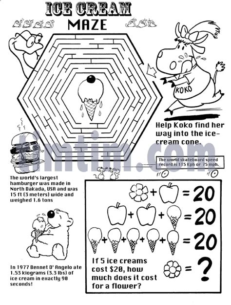 love boat ice cream history free drawing of ice cream maze bw from the category