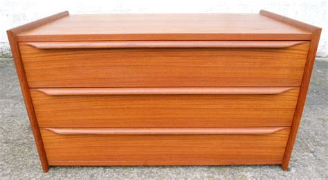 Low Wide Chest Of Drawers White 1960 S Teak Low Chest Of Drawers