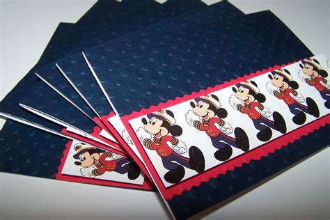 Where Can I Buy A Disney Gift Card - mickey mouse cruise blank note card set disney by 1ofakindcrafts