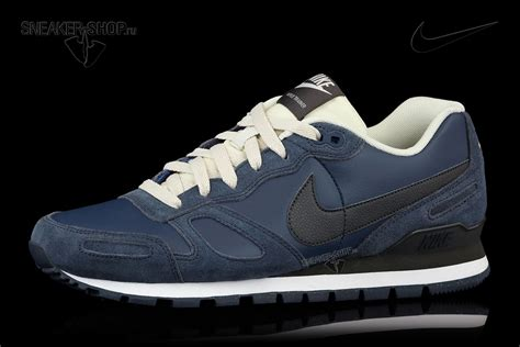 nike air waffle trainer leather bleu