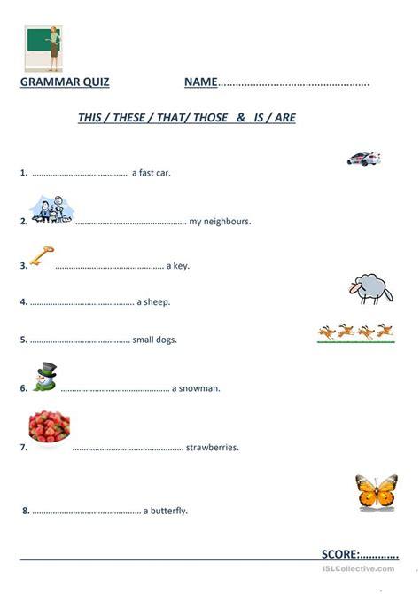 this that these those worksheet free esl printable