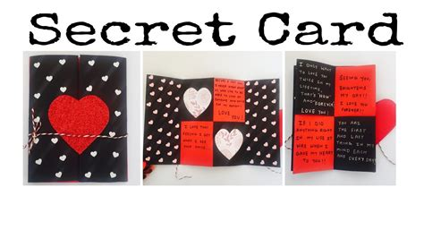 how to make a secret message card secret message card s day card express your