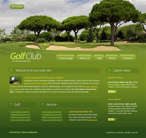 free golf website templates 4241 sports fitness website templates dreamtemplate