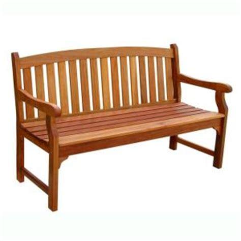 garden benches at home depot vifah eucalyptus patio bench v275 the home depot