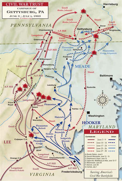 gettysburg map gettysburg caign map battle of gettysburg caign maps