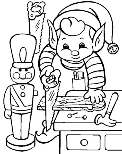 coloring pages elves santa free christmas elves coloring pages