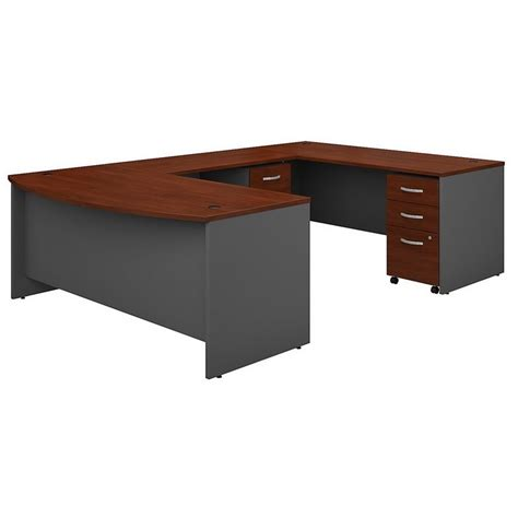 Office Desk Deals Computer Desk Home Office Table 72 Quot U Shaped With Pedestals In Cherry Dealtrend