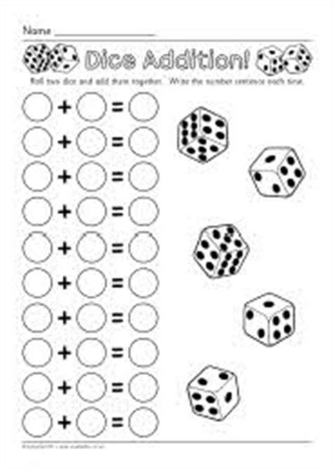free printable dice addition worksheets pinterest the world s catalog of ideas
