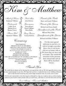 Free Printable Wedding Program Templates by Pin By Romia On Printable Wedding Programs