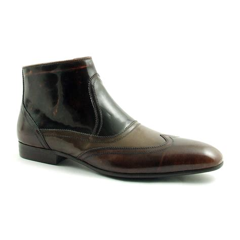 buy mens stylish patent leather boots by gucinari