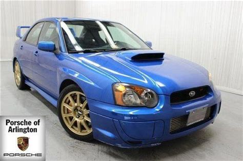 blue subaru gold rims sell used 2005 impreza sti blue and black interior rear