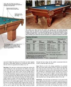 homemade pool table plans follow  step  step