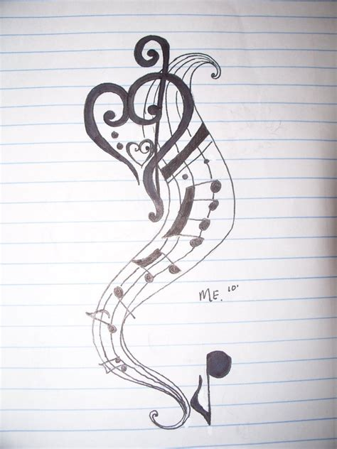 music notes with stars tattoo designs simson