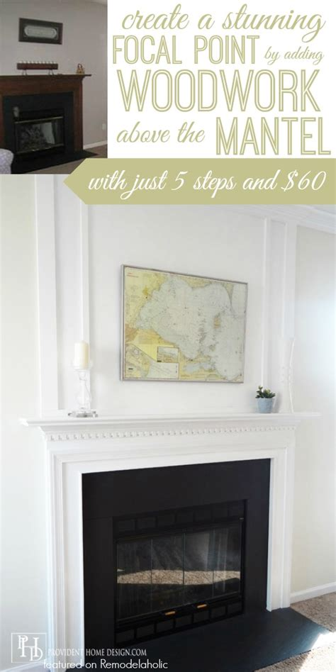 Adding A Fireplace Remodelaholic How To Add Woodwork Trim Above The