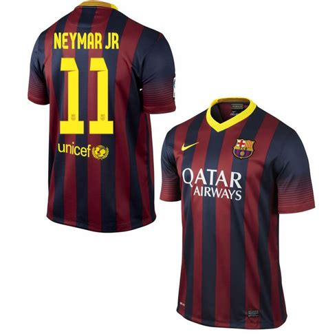 Jersey Barcelona Home 1213 neymar jersey barcelona 2013 2014 home nike and products
