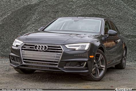 Test Audi A4 by Road Test 2017 Audi A4 Audiworld