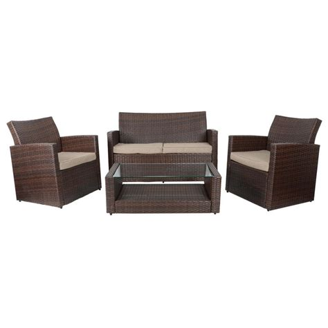 brown rattan sofa set brown tuscany rattan wicker sofa garden set with coffee table