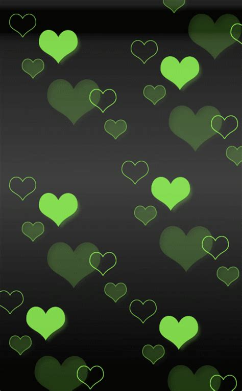 wallpaper green heart the gallery for gt green hearts backgrounds