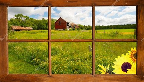 Living Room Wall Murals window view country landscape stock photo 169 kellyplz