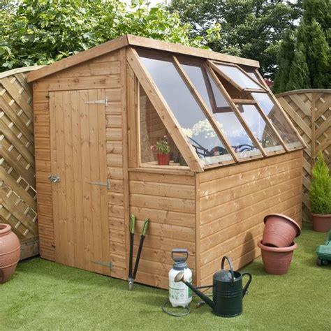 shiplap single door potting shed wooden greenhouse