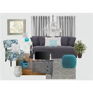 Teal Side Chair Design Ideas Gray And Teal Living Room Polyvore