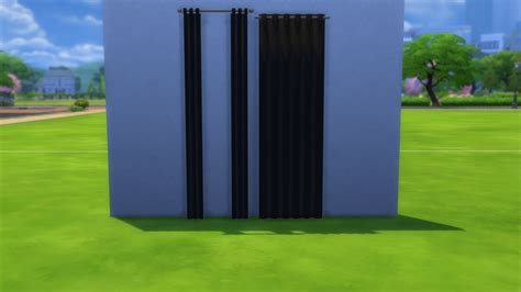 curtain game mod the sims base game curtain in black