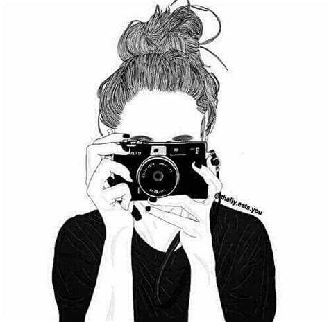 messy bun drawing | tumblr