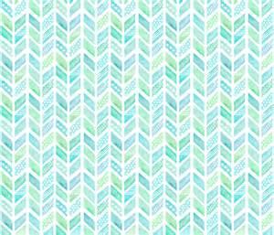 watercolor herringbone in blue and green fabric