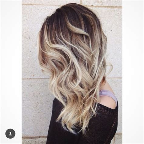 color melt with darkerr root brown roots with blonde hair color pinterest roots