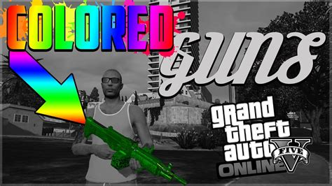 any color gta 5 change weapon to any color glitch new