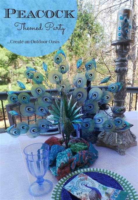 peacock themed home decor peacock themed party themed parties peacocks and giveaway