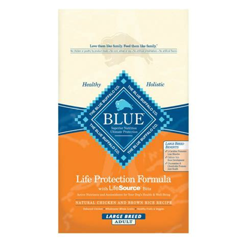 blue buffalo puppy food 30 lbs blue buffalo large breed chicken brown rice 30 lb food 934667
