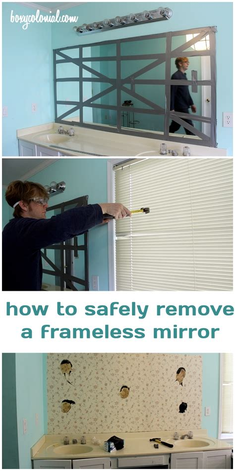 how to remove a mirror from a bathroom wall how to remove a frameless mirror like a nervous grandma