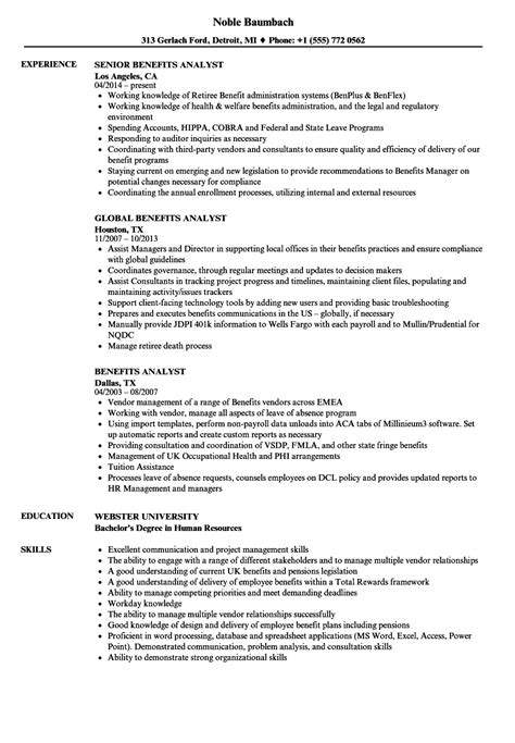 Benefits Analyst Cover Letter by Benefits Analyst Cover Letter Fungram Co