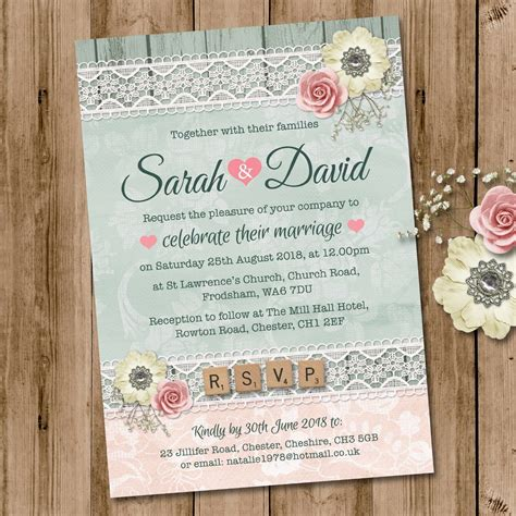 package deal wedding invitation rsvp  gift poem