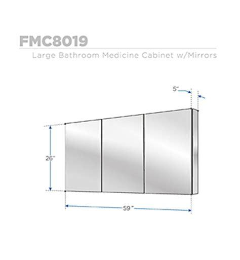 60 inch wide bathroom mirror fresca fmc8019 59 inch wide bathroom medicine cabinet w