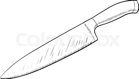 Kitchen Knives Wiki knife sketch icon in cartoon doodle style stock vector